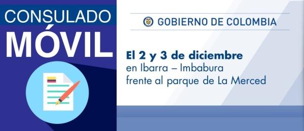 Configurar Consulado de Colombia en Tulcán realizará el Consulado Móvil en Ibarra el 2 y 3 de diciembre de 2017